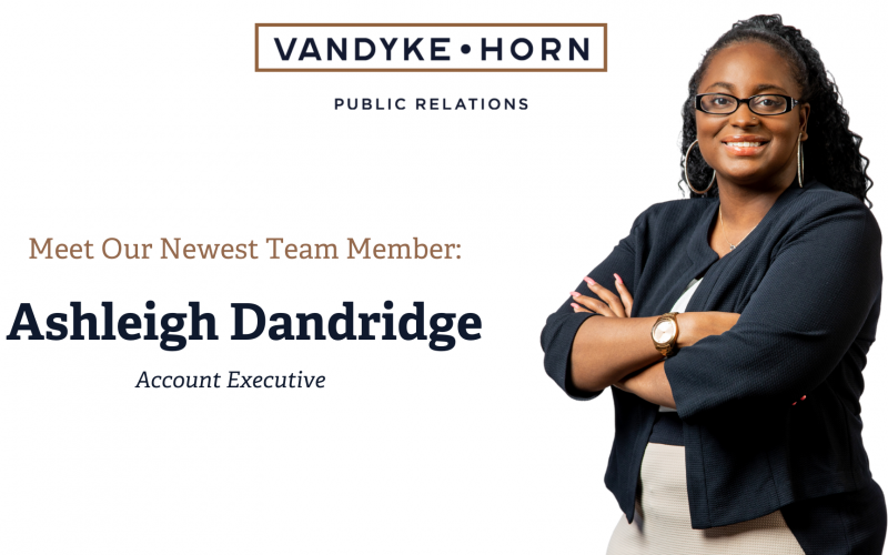 PHOTO - VDH Newsletter Graphic Welcome Ashleigh Dandridge - March 2021